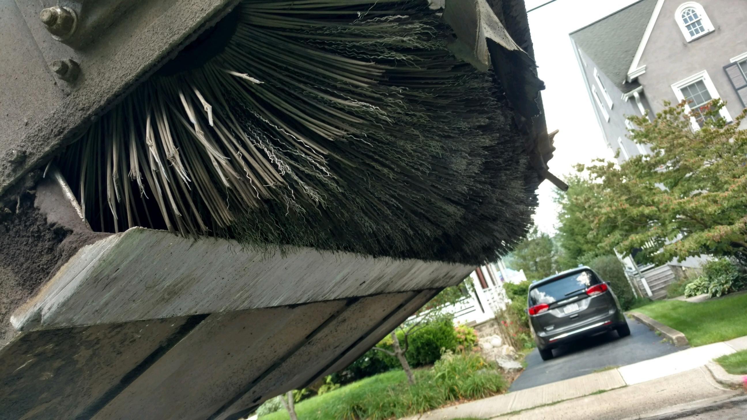 worn pick-up broom wafers
