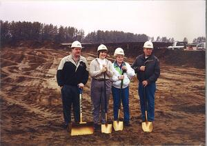Ground Breaking Dean and Lois with Deans Parents-1