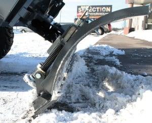 Trip Edge Technology on Virnig Angle Snow Blade