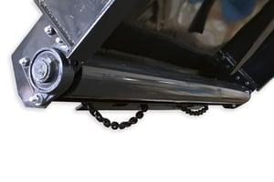 Skid steer brush cutter rear roller