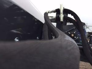 Hydraulic Hose on Virnig Skid Steer Snow Blower Attachment