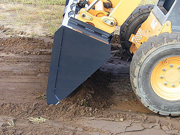 Skid Steer Dirt Bucket Shaving Down Dirt Virnig Manufacturing