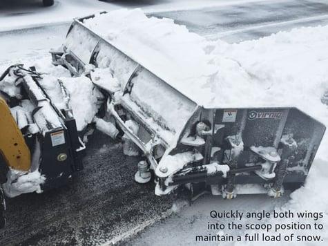 skid steer snow blade pusher attachment Virnig