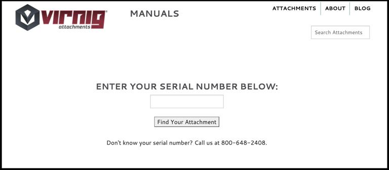 Screen view of Virnig's Manual Lookup Tool