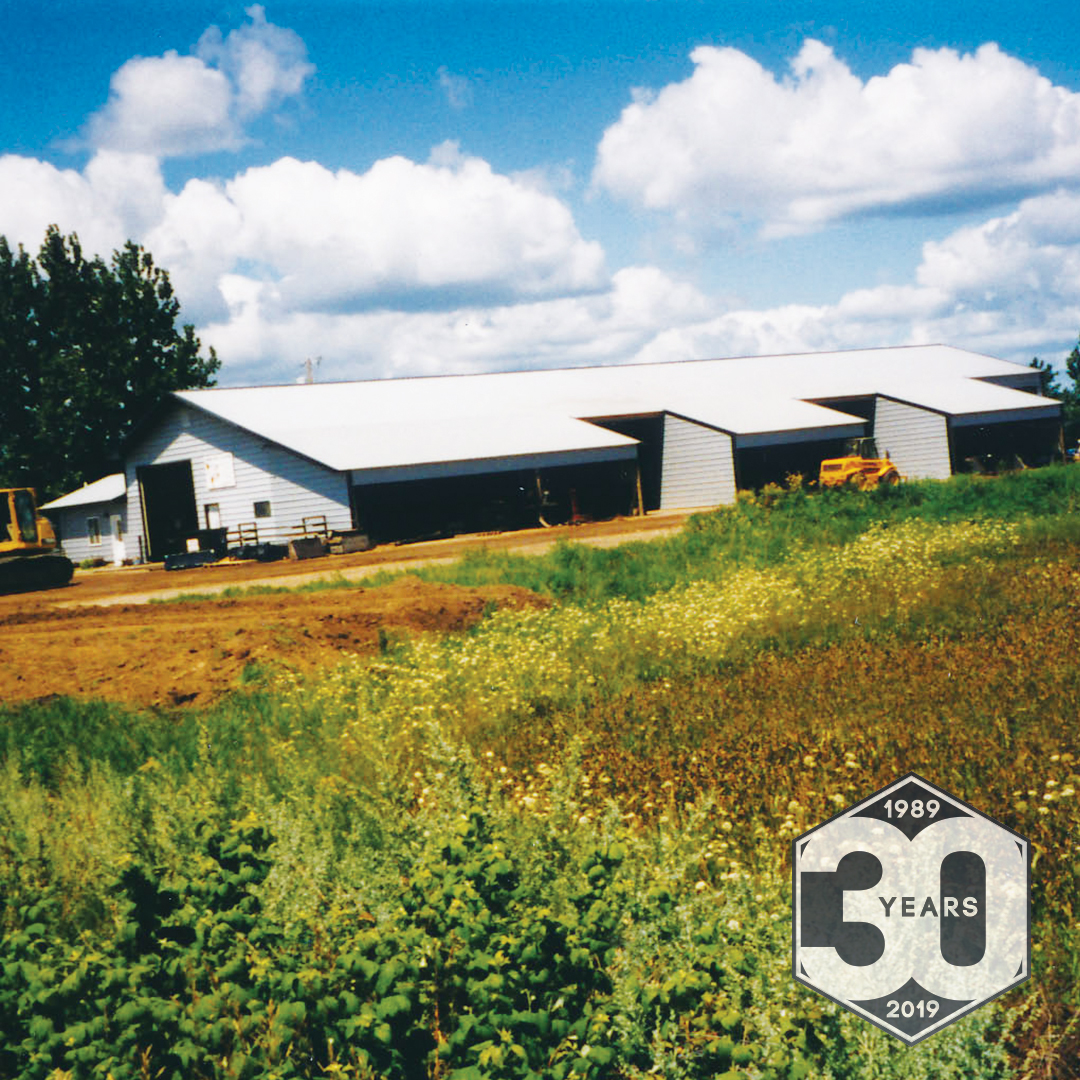 Photo of Virnig Manufacturing's 1998 shop expansion.