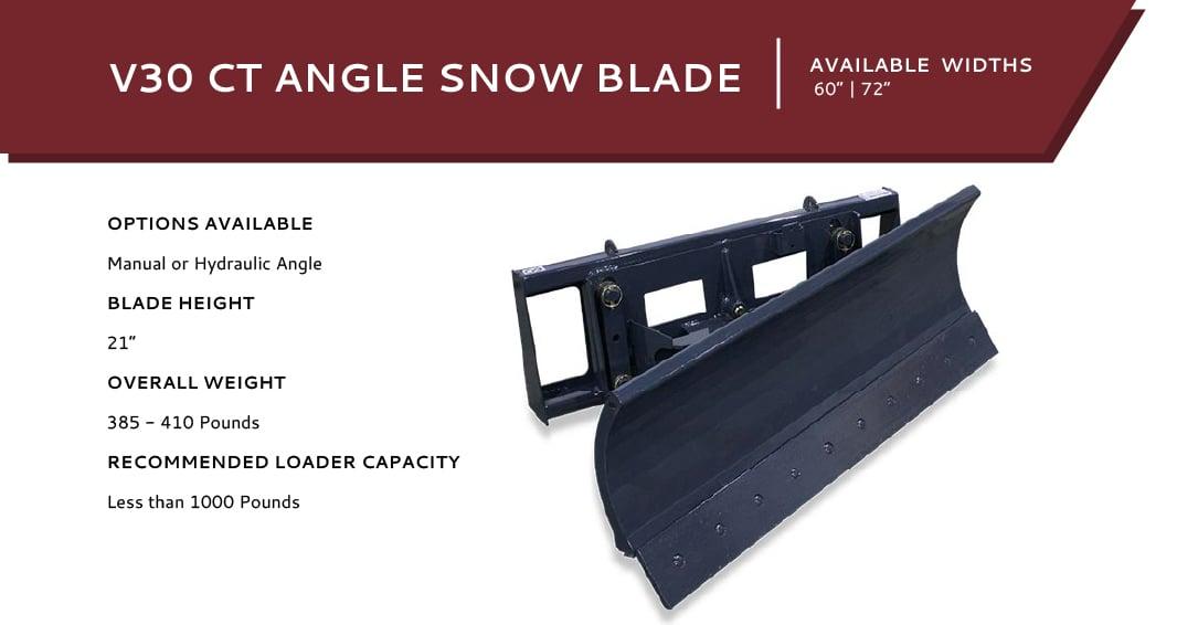 V30 Angle Snow Blade