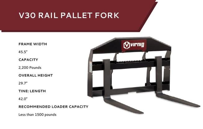 V30 Rail Pallet Fork