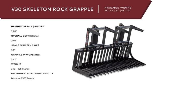 V30 Skeleton Rock Grapple