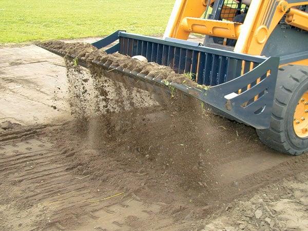 Dirt Sifting With Virnig Skid Steer Bucket